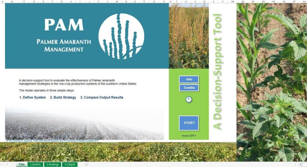 PAM start page